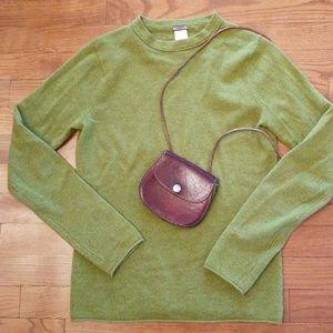 J. Crew Roll Hem Cashmere Green Sweater